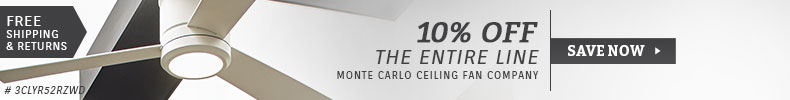 Monte Carlo Fans | 10% Off the Entire Line