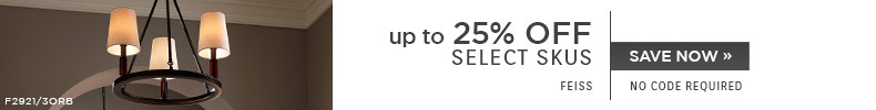 Feiss | Up To 25% OFF Select Skus | no code required | Save Now
