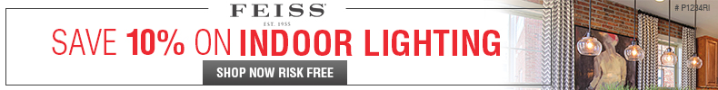 Save 10% on INDOOR LIGHTING from FEISS!