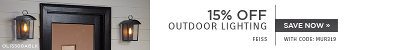 Feiss | 15% OFF Outdoor Lighting | with code: MUR319 | Save Now
