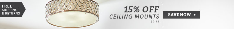 Feiss | 15% Off Ceiling Mounts