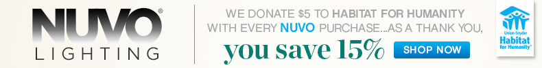 Nuvo Lighting | Habitat For Humanity | 15% OFF The Entire Line