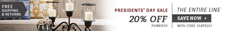 Pomeroy | Presidents' Day Sale | 20% Off the Entire Line