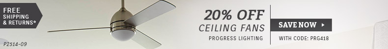 Progress | 20% OFF Ceiling Fans