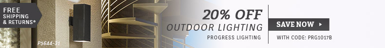Progress | 20% OFF Outdoor Lighting