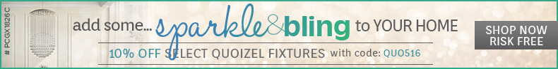Quoizel | 10% Off Sparkle & Bling