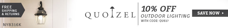 Quoizel | 10% Off Outdoor Lighting