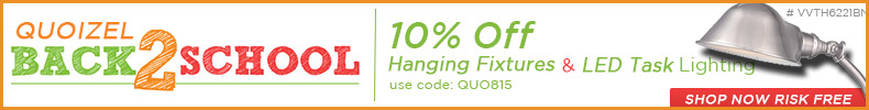 BACK 2 SCHOOL: 10% off Hanging Fixtures & LED Task Lighting!
