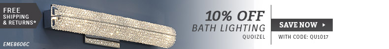 Quoizel Lighting | 10% Off Bath Lighting
