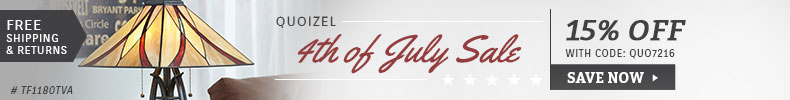 Quoizel | 4th of July Sale | 15% Off the Entire Line