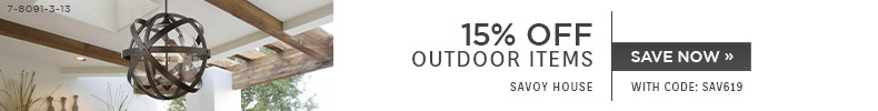 Savoy House | 15% Off Outdoor Items | With code: SAV619 | Save Now