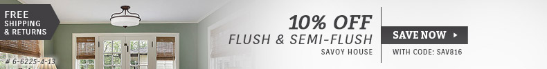 Savoy House | 10% Off Flush & Semi-Flush