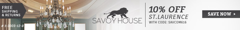 Savoy House Lighting | 10% Off the St. Laurence Collection