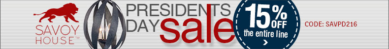 Savoy House Presidents Day Sale | 15% off the Entire Line!