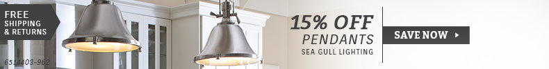 Sea Gull Lighting | 15% Off Pendants