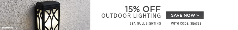 Sea Gull Lighting | 15% OFF Outdoor Lighting | with code: SEA319 | Save Now