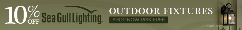 10% OFF Sea Gull Lighting Outdoor Fixtures!
