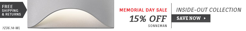 Sonneman | Memorial Day Sale | 15% Off Inside-Out Collection