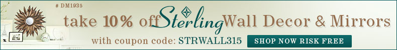 Take 10% Off Sterling Wall Decor & Mirrors!