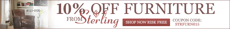 10% off STERLING Furniture!