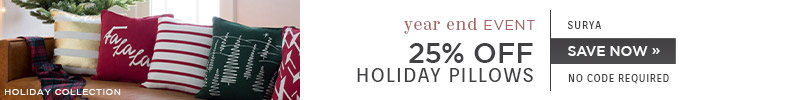 Surya | 25% OFF Holiday Pillows | no code required | Save Now