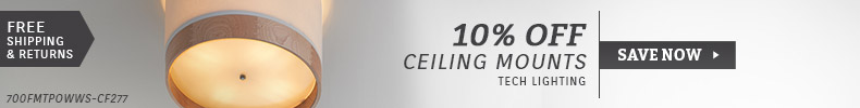 Tech Lighting | 10% Off Ceiling Mounts