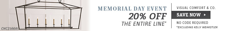 Visual Comfort | Memorial Day Event | 20% OFF The Entire Line* | *Excluding Kelly Wearstler