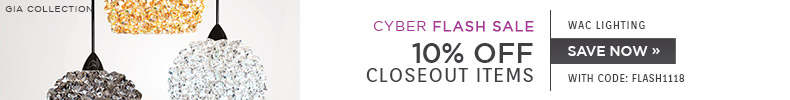 Cyber Flash Sale | WAC Lighting | 10% OFF Closeout Items |with code: FLASH1118