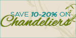 Save 10-20% on Dolan Designs Chandeliers!