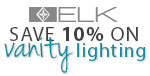 Save 10% on BATH LIGHTING by ELK!