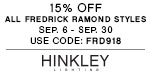 Fredrick Ramond | 15% OFF Entire Line | no code required