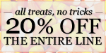 This Halloween weekend at LNY, 20% off the ENTIRE LINE!