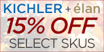 KICHLER and Élan fancy fall savings! 15% OFF SELECT SKUS!