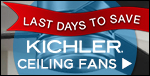 10% OFF KICHLER Ceiling Fans & Accessories!