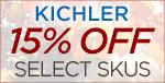 KICHLER fancy fall savings! 15% OFF SELECT SKUS!