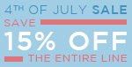4th of July Sale | Save 15% Off the Entire Line | No Code Required | Go Fourth & Shop