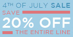 4th of July Sale | Save 20% Off the Entire Line | No Code Required | Go Fourth & Shop