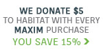 Lighting New York & Maxim Lighting Present: We're In This Together | We donate $5 to Habitat for Humanity with every Maxim purchase. As a thank you, you save 15% | Shop Now