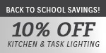 Quoizel Lighting | Back to School Savings | 10% Off Kitchen & Task Lighting