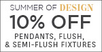 Summer of Design | Quoizel Lighting | 10% Off Pendants, Flush, & Semi-Flush Fixtures | With Code: DESIGN19 | Save Now