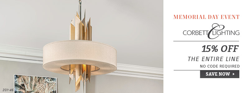 Corbett Lighting | Memorial Day Event | 15% OFF The Entire Line