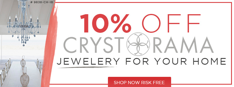 10% Off CRYSTORAMA Jewelry For Your Home!