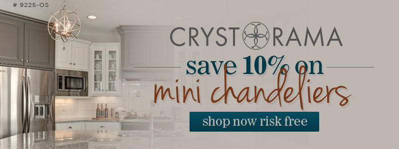 Crystorama | 10% off Mini Chandeliers