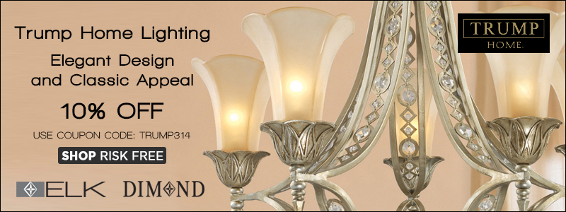Save 10% on TRUMP HOME LIGHTING!
