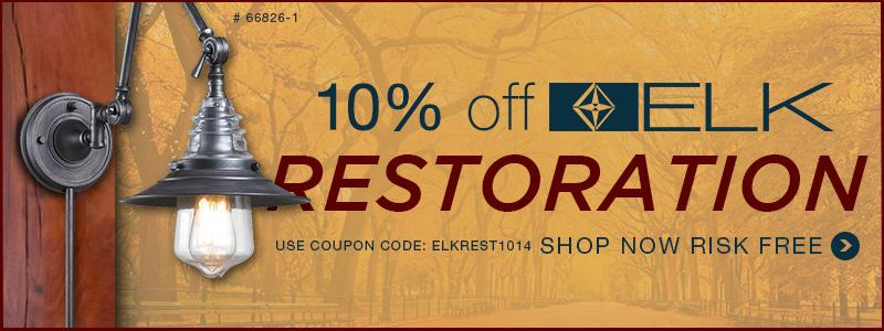 10% Off ELK RESTORATION!