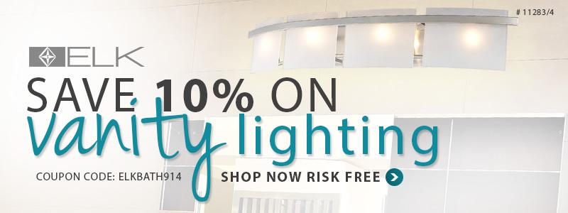Save 10% on BATH LIGHTING by ELK!