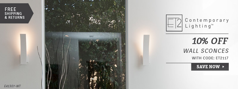 ET2 Lighting | 10% Off Wall Sconces