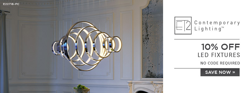 ET2 Contemporary Lighting | 10% OFF LED Fixtures | no code required | Save Now