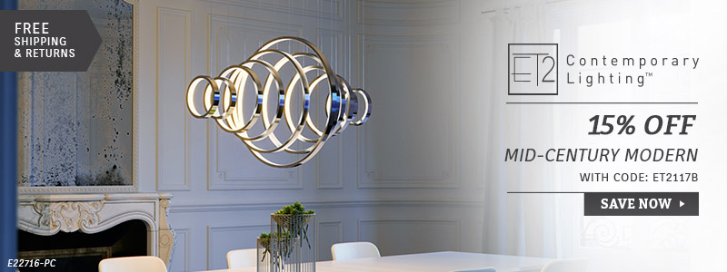 ET2 Lighting | 15% Off Mid-Century Modern Collections