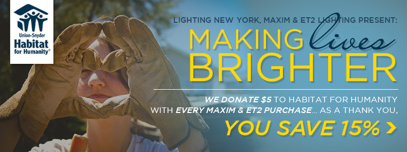 We Donate $5 to Habitat For Humanity With Every Maxim & Et2 Purchase... as a Thank You, You Save 15%!